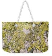 Green Moss On Rock Pattern Weekender Tote Bag