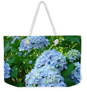 Green Nature Landscape Art Prints Blue Hydrangeas Flowers Weekender Tote Bag