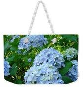 Green Nature Landscape Art Prints Blue Hydrangeas Flowers Weekender Tote Bag
