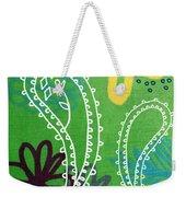 Green Paisley Garden Weekender Tote Bag by Linda Woods