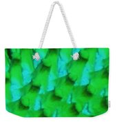 Green Pattern Abstract Weekender Tote Bag