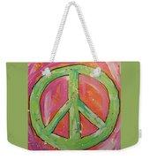 Green Peace Weekender Tote Bag