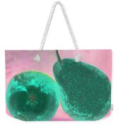 Green Pears On Pink Weekender Tote Bag