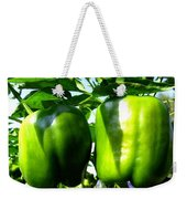 Green Peppers Weekender Tote Bag