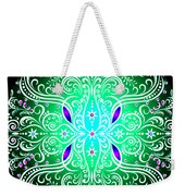 Green Piece Mandala Weekender Tote Bag