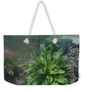 Green Plant And Pink Flowers  Weekender Tote Bag