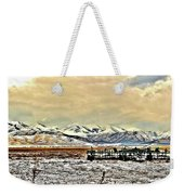 Green Plow On An Early Winter Morning Weekender Tote Bag