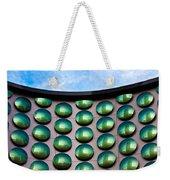 Green Polka-dot Curve Weekender Tote Bag