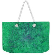 Green Radation With Violet  Weekender Tote Bag