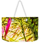 Green Rain Drops Weekender Tote Bag
