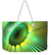 Green Rays Weekender Tote Bag