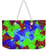 Green Red And Blue Melody Panel Abstract Weekender Tote Bag