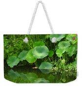Green Reflection Weekender Tote Bag