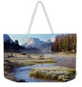 Green River, Frosty Morning Weekender Tote Bag