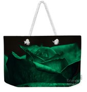 Green Rose Weekender Tote Bag