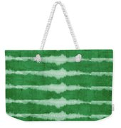 Green Shibori 3- Art By Linda Woods Weekender Tote Bag