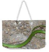 Green Snake Weekender Tote Bag