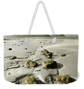 Green Stones On A North Wales Beach Weekender Tote Bag