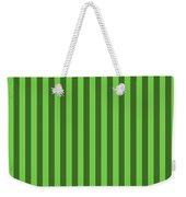 Green Striped Pattern Design Weekender Tote Bag
