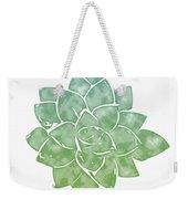 Green Succulent 1- Art By Linda Woods Weekender Tote Bag