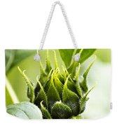 Green Sunflower Bud Weekender Tote Bag