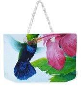 Green-throated Carib And Pink Hibiscus Weekender Tote Bag