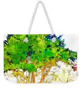 Green Trees By The Lake Weekender Tote Bag