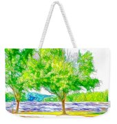 Green Trees By The Water 3 Weekender Tote Bag
