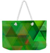 Green Triangles Over Green Mist Weekender Tote Bag