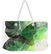 Green Tropical Weekender Tote Bag