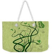 Green Vine And Butterfly Weekender Tote Bag