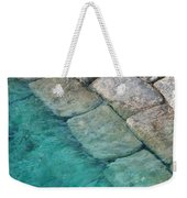 Green Water Blocks Weekender Tote Bag