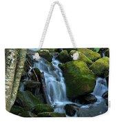 Green Waterfall Weekender Tote Bag