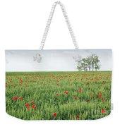 Green Wheat Field Spring Scene Weekender Tote Bag