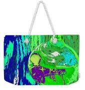 Green Whirl Weekender Tote Bag