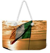 Flag Of Ireland At The Cliffs Of Moher Weekender Tote Bag