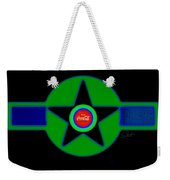 Green With Blue Weekender Tote Bag