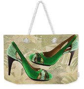 Green With Envy Pumps Weekender Tote Bag