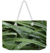 Green With Rain Drops Weekender Tote Bag