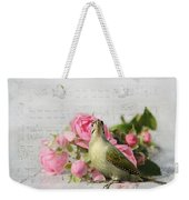 Green Woodpecker Stilllife Weekender Tote Bag