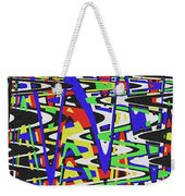 Green Yellow Blue Red Black And White Abstract Weekender Tote Bag