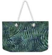 Green Zebra Print Weekender Tote Bag