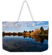 Greenlake Fall Reflections Weekender Tote Bag
