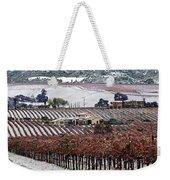 Greenville Vineyard In Snow Weekender Tote Bag