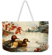 Greenwinged Teal Ducks Weekender Tote Bag