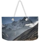 Greeting To Mountain By Sun Weekender Tote Bag