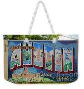 Greetings From Austin Capital Of Texas Postcard Mural Weekender Tote Bag