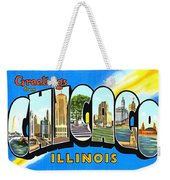Greetings From Chicago Illinois Weekender Tote Bag