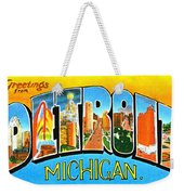 Greetings From Detroit Michigan Weekender Tote Bag