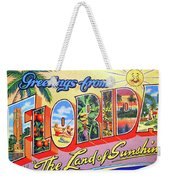 Greetings From Florida, The Land Of Sunshine Weekender Tote Bag